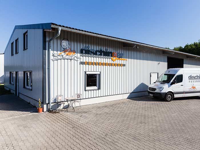 Estrich Unternehmen im Markgräflerland bei Freiburg Dischinger Fußbodenbau Standort in Aktion