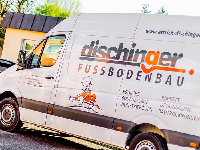 Estrich Unternehmen im Markgräflerland bei Freiburg Dischinger Fußbodenbau Van Bild